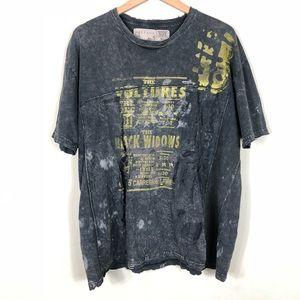 Salvage Punk Band Distressed T-shirt XL